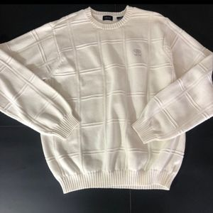 Men's white Izod cotton sweater. Size medium